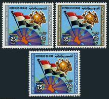 Iraq 922-924,MNH.Michel 1005-1007. Admission To The UPU,50th Ann.1979.Flag. - Iraq
