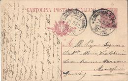 INTERO POSTALE TIPO MICHETTI C. 25 - CAT.FILAGRANO C49 MILLESIMO 21 - DA SAN COLOMBANO AL LAMBRO A MONEGLIA 4.9.1922 - 1900-44 Victor Emmanuel III