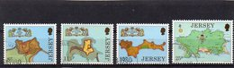 JERSEY 1980 Fortresses Set Used CTO - Jersey