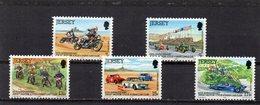 JERSEY 1980 Motorcycle Car Club Set MNH - Jersey