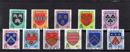 JERSEY 1981-88 Family Arms 11 Values Used CTO AS SCAN - Jersey