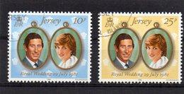 JERSEY 1981 Royal Wedding Set Used CTO - Jersey