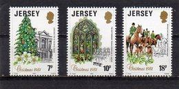JERSEY 1981 Christmas Set MNH - Jersey
