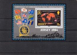 JERSEY 1984 Commonwealth Links Mini Sheet MNH - Jersey