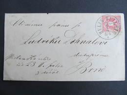 BRIEF Hullein Hulin - Brno 1884 STEMPEL 40' P ///  D*34960 - Briefe U. Dokumente