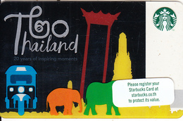 THAILAND - Thailand 20 Years, Starbucks Card, CN : 6154, Unused - Gift Cards