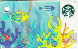THAILAND - Summer, Starbucks Mini Card, CN : 6151, Unused - Gift Cards