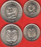 """Colombia Set Of 2 Coins: 20 - 50 Centavos 1965 """"Jorge Gaitan"""" UNC - Colombie"""