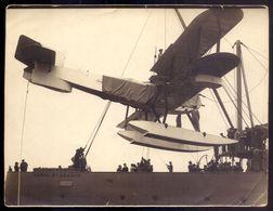Fotografia HIDROAVIAO FAIRY Embarca No Navio NRP CARVALHO ARAUJO. Assinada Pelo Médico AUGUSTO D'ESAGUY 1922 Portugal - Photos