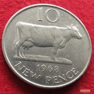 Guernsey 10 Pence 1968 KM# 24 Guernesey - Guernsey