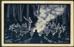 La Vie Scoute - 1 - 2 Feu De Camp - Illustration M Besson - Scoutisme