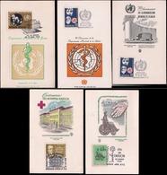 Argentina - Carte - FDC - OMS - La Santé - WHO