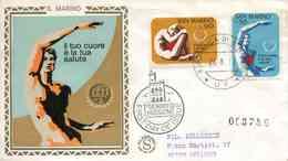 """ENV. De 1972 De San Marin Avec Timbres """"Année De Coeur"""" - Oblit. PJ 26.8.72 - Lettres & Documents"""