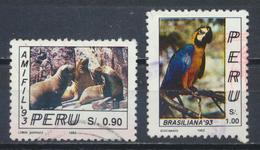 °°° PERU - Y&T N°997/98 - 1993 °°° - Perù