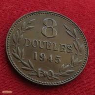Guernsey 8 Doubles 1945 KM# 14 *V1 Guernesey - Guernsey