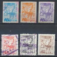 °°° PERU - Y&T N°1011/12/13/18/19/20 - 1994 °°° - Perù