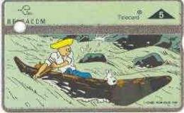 BELGIUM : P450  TINTIN KUIFJE CARTOON DUMMY CARD WITH HOLE SILVER STRIP - Belgique