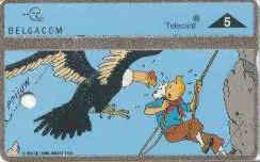 BELGIUM : P466  TINTIN KUIFJE CARTOON DUMMY CARD WITH HOLE SILVER STRIP - Belgique