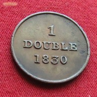 Guernsey 1 Double 1830  Guernesey - Guernesey