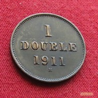 Guernsey 1 Double 1911 H KM# 10  Guernesey - Guernesey