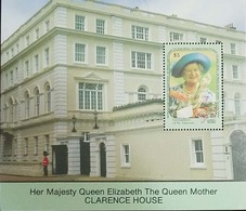 L) 1990 GRENADINES OF ST. VINCENT, HER MAJESTY QUEEN ELIZABETH THE QUEEN MOTHER CLARENCE HOUSE, ARCHITECTURE, PEOPLE, 5C - St.Vincent & Grenadines