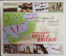 L) 2000 MALDIVES, 60TH ANNIVERSARY BATTLE OF BRITAIN, MAP, OPERATION SEA LION, AIRPLANE, SOLDIERS, MNH - Maldives (1965-...)