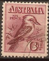 AUSTRALIA 1913 6d Kookaburra SG 19 U #AQC62 - Usati