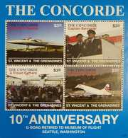 L) 2003 ST VINCENT & GRENADINES, THE CONCORDE, 10TH ANNIVERSARY G-BOAG RETIRED TO MUSEUM OF FLIGHT SEATTLE, WASHINGTON, - St.Vincent & Grenadines