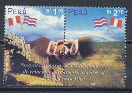 °°° PERU - Y&T N°1285/86 - 2002 °°° - Perù
