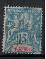 MARTINIQUE       N°  YVERT  :    36     OBLITERE     (OB  3/08 ) - Martinique (1886-1947)