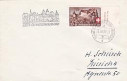 Switzerland Cover Schweizer Automobil Postbureau 1939 Sollennität In Burgdorf (DD24-4) - Suisse