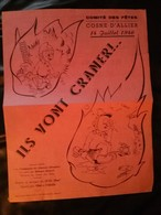 """Chanson Pour Les POMPIER S """" Ils Vont Craner """" De Cosne-d'Allier (03) - 1946 - - Firemen"""