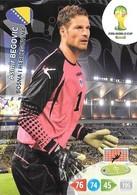 CARTE PANINI ADRENALYN COUPE DU MONDE FIFA BRESIL 2014 BOSNIE HERZEGOVINE ASMIR BEGOVIC - Trading Cards