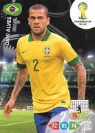 CARTE PANINI ADRENALYN COUPE DU MONDE FIFA BRESIL 2014 BRESIL DANI ALVES - Trading Cards