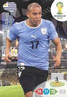 CARTE PANINI ADRENALYN COUPE DU MONDE FIFA BRESIL 2014 URUGUAY EGIDIO AREVALO RIOS - Trading Cards