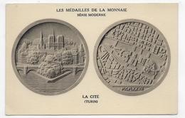LES MEDAILLES DE LA MONNAIE - SERIE MODERNE - LA CITE - TURIN - CPA NON VOYAGEE - 75 - Coins (pictures)