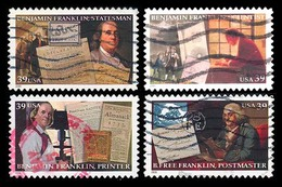 Etats-Unis / United States (Scott No.4021-24 - Benjamin Franklin) (o) Set - Verenigde Staten