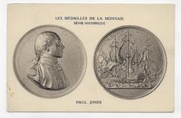 LES MEDAILLES DE LA MONNAIE - SERIE HISTORIQUE - PAUL JONES - CPA NON VOYAGEE - 75 - Coins (pictures)