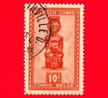 Congo Belga - Usato - 1948 - Figure Scolpite E Maschere - Ndoha - Musicista Seduto, Tribù Batshokwe - 10 - Congo Belga