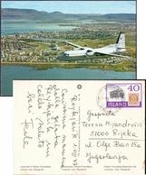 ICELAND - REYKJAVIK  Aircraft Fokker - 1977 - Iceland