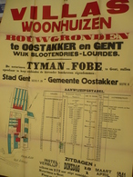 Gent Oostakker Slootendries Lourdes 1941 Affiche 100 Op80 Cm Verkoop Villas Woonhuizen - Affiches