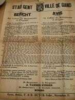 Stad Gent 1927 Uitbreiding Der Zeehaven Oostakker Affiche 40 Op 80 Cm - Affiches