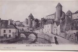CPA - SEMUR La Rue Chaude Et Le Donjon - Semur