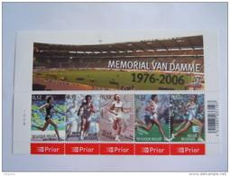 België Belgique 2006 Memorial Van Damme Walker Juantorena Coe Ovett Planche 3 Cob BL129 3520-3524 Yv 3501-3505 MNH ** - Libretti 1962-....