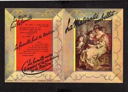 """Militaria Guerre 1939-45 / Propagande Pétiniste Commissariat à La Famille """" La Maternité Embellit..."""" Maréchal Pétain - 1939-45"""