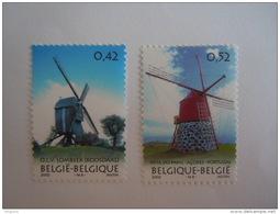 België Belgique 2002  Windmolens Moulins à Vent Cob 3091-3092 Yv 3085-3086 MNH ** - Belgium