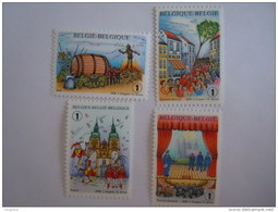 België Belgique 2008  Folklore En Traditie Folklores Et Traditions Cob 3800-3803 Yv 3782-3785 MNH ** - Belgium
