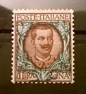 FRANCOBOLLI STAMPS ITALIA ITALY 1901 MH NUOVO SERIE FLOREALE 1 LIRA REGNO VITTORIO EMANUELE III - Nuovi
