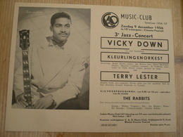 Jazz Gent Vooruit 1956 Vicky Down Terry Lester 18 Op 14 Cm - Affiches
