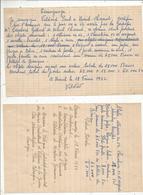 Témoignage Du 18 Février 1952 , Arrestation Par La GESTAPO , Guerre 1939-45 , 2 Scans,Nieuil ,Charente , Frais Fr 1.65 E - Vieux Papiers